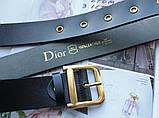 Женский ремень Dior пряжка бронза черный, фото 3