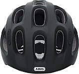 Велосипедний дитячий шолом ABUS youn-I M 52-57 Velvet Black 128073, фото 2