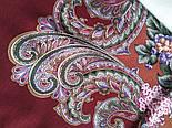 Бал маскарад 982-6, павлопосадский вовняну хустку з шовковою бахромою, фото 4