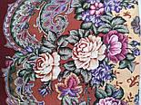 Бал маскарад 982-6, павлопосадский вовняну хустку з шовковою бахромою, фото 3