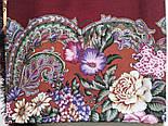 Бал маскарад 982-6, павлопосадский вовняну хустку з шовковою бахромою, фото 2