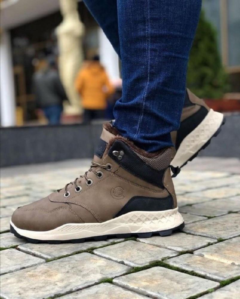 Мужские Ботинки Хорошо Хаки Зима