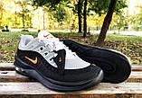 Кросівки Nike Airmax чорно-сірі, фото 3