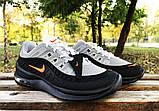 Кросівки Nike Airmax чорно-сірі, фото 5