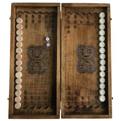 Нарды деревянные ручной работы Newt Backgammon 2, фото 2