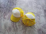 Желтая кепка тракер с белой лобовой частью, фото 2