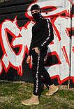 Штаны утеплённые чёрные с лампасами Fila, фото 5