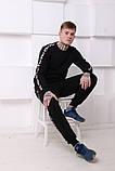 Штаны утеплённые чёрные с лампасами Fila, фото 9