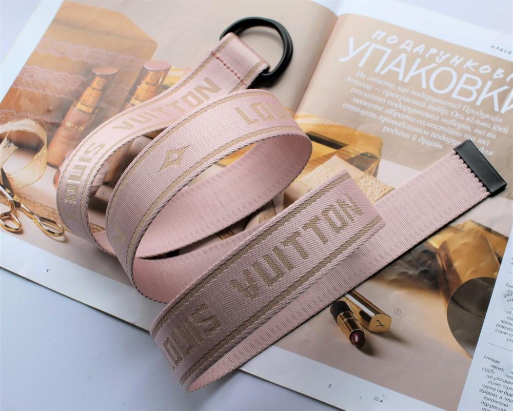 Тренд сезона тканевый ремень Louis Vuitton Rose