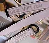 Тренд сезона тканевый ремень Louis Vuitton Rose, фото 3