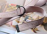 Тренд сезона тканевый ремень Louis Vuitton Rose, фото 4