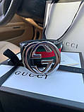Belt Gucci G Buckle Green/Red/Green Silver, фото 3