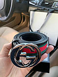 Belt Gucci G Buckle Green/Red/Green Silver, фото 4