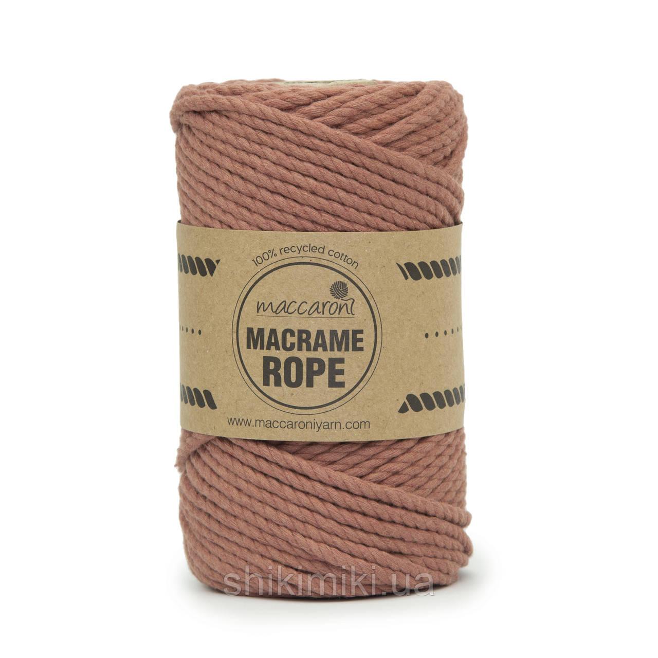 Эко шнур Macrame Rope 4mm, цвет Фрезовый