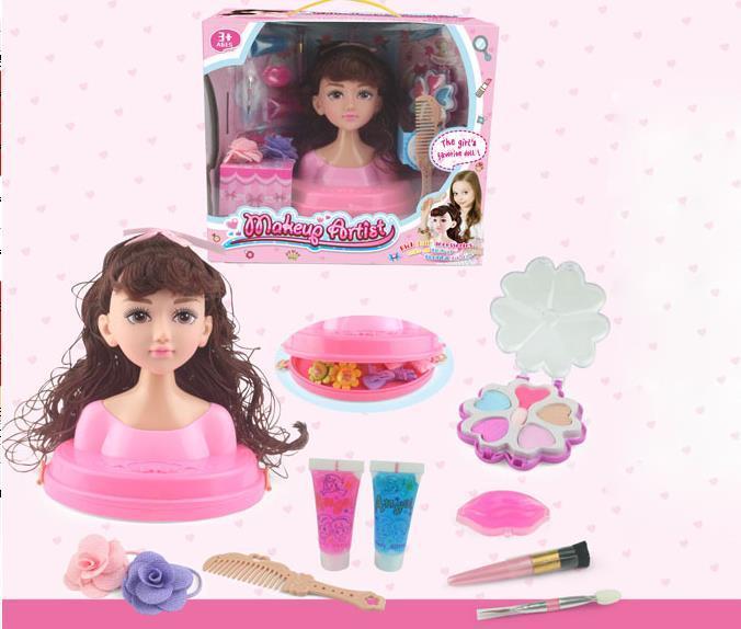 Голова-манекен куклы для причесок и макияжа с аксессуарами (704144)