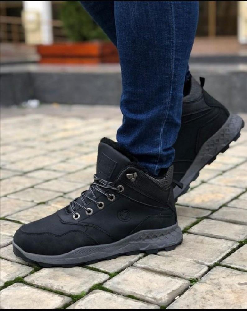 Мужские Ботинки Хорошо черные Зима
