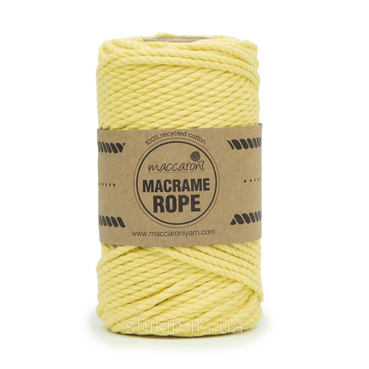Эко шнур Macrame Rope 4mm, цвет желтый