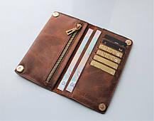 """Чоловічий гаманець з натуральної шкіри """"Cavallo_Pazzo"""" коричневий"""