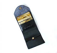"""Чоловічий гаманець з натуральної шкіри """"Denzel"""" чорний"""