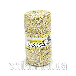 Трикотажный шнур PP Macrame Medium Melange, цвет Молочно-золотой