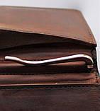 """Кожаный мужской зажим """"L'albero"""" коричневый, фото 3"""