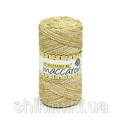 Трикотажный шнур PP Macrame Medium Melange, цвет Золотисто-бежевый
