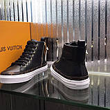 Высокие Кроссовки Louis Vuitton Stellar Black Monogram, фото 2