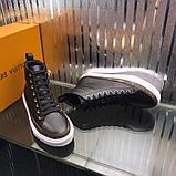 Высокие Кроссовки Louis Vuitton Stellar Black Monogram, фото 4