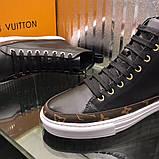 Высокие Кроссовки Louis Vuitton Stellar Black Monogram, фото 5
