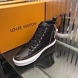 Высокие Кроссовки Louis Vuitton Stellar Black Monogram, фото 7