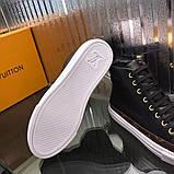 Высокие Кроссовки Louis Vuitton Stellar Black Monogram, фото 9