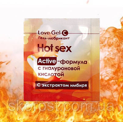 Гель - лубрикант LOVEGEL C  Hot sex 4 гр
