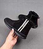 Ботинки Gucci Winter Web Stripe Black, фото 3