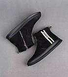 Ботинки Gucci Winter Web Stripe Black, фото 5