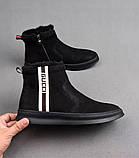 Ботинки Gucci Winter Web Stripe Black, фото 6