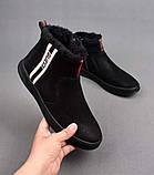Ботинки Gucci Winter Web Stripe Black, фото 7
