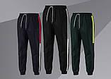 Спортивні штани/Pants with side stripe (Темно-сині), фото 2