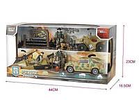 Игровой набор военной техники: машинки, оружие, 3 фигурки солдатиков, квадроцикл