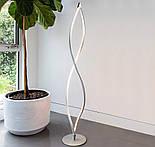 Светодиодный напольный LED торшер спираль с диммером Серебряный, фото 2