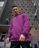 Худі оверсайз Гармата Вогонь Keep Clean фіолетове, фото 3