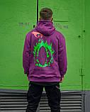 Худі оверсайз Гармата Вогонь Keep Clean фіолетове, фото 4