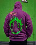 Худі оверсайз Гармата Вогонь Keep Clean фіолетове, фото 7