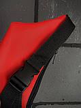 Бананка Calvin Klein червона змійка пластик, фото 3