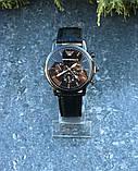 Часы Emporio armani leather Black, фото 4