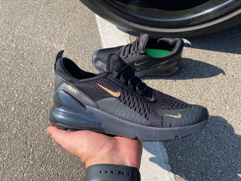 Кроссовки Nike Air 270 Black/Gold