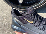 Кроссовки Nike Air 270 Black/Gold, фото 4