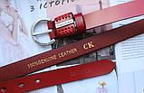Женский узкий ремень Calvin Klein красный, фото 3