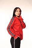 Худі червоне з чорно-білими лампасами Kappa, фото 3