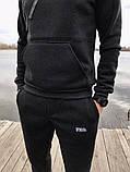 Трикотажний спортивний костюм Fila (Сірий), фото 2