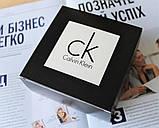 Мужской кожаный ремень с черной пряжкой Calvin Klein черный, фото 5